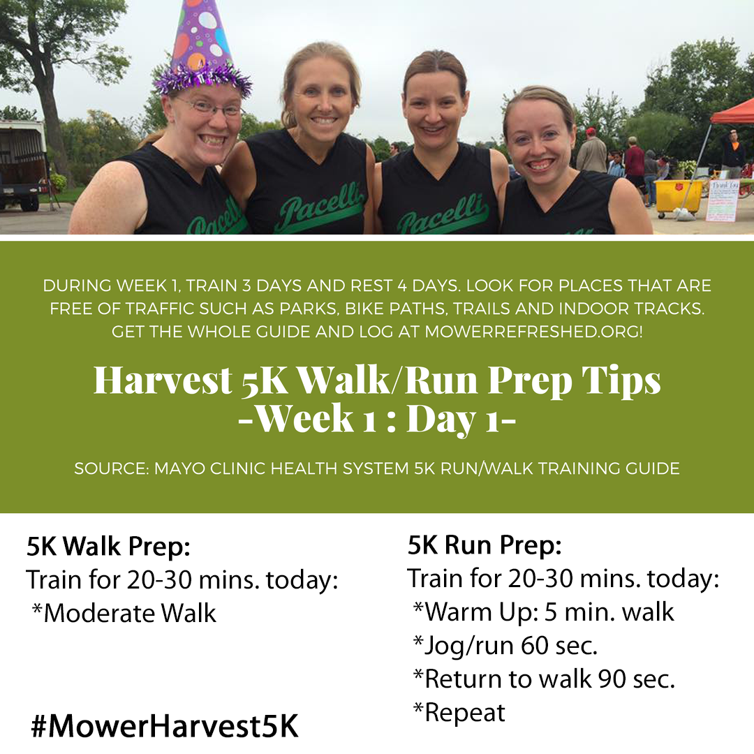 Harvest 5K Walk-Run Prep Tips